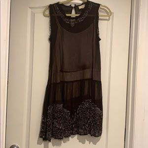 Anthropologie Party Dress with Embroidered beads
